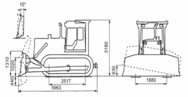 Чертеж трактора Т-130