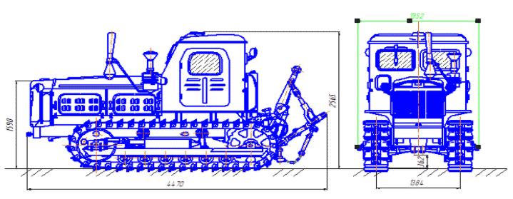 Чертеж трактора Т-4