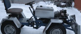 Этапы конструирования минитрактора из ВАЗ