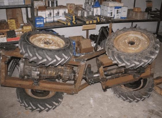 Ходовая часть мини-трактора