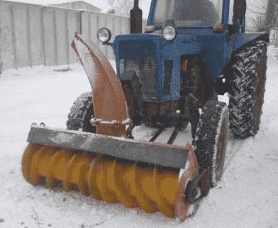 Как самому сделать роторный снегоуборщик для трактора