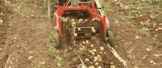 Картофелекопалка для минитрактора
