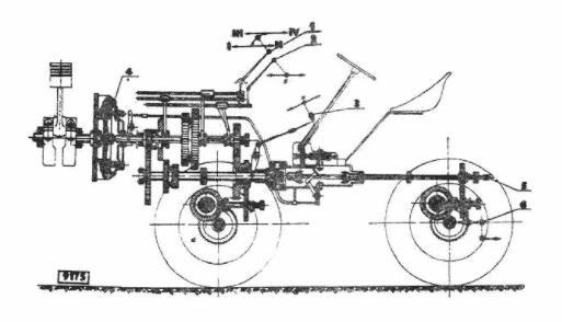 Конструкция минитрактора TZ-4K-14