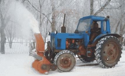 Навесное оборудование для чистки снега трактором