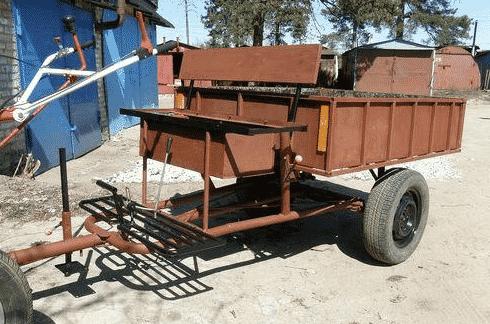 Неопрокидывающийся прицеп для перевозки малотоннажных грузов
