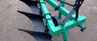 Оборотный плуг (лемешно-отвальный) для минитрактора