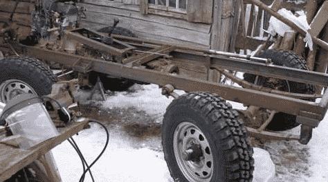 Поэтапная сборка минитрактора из УАЗа