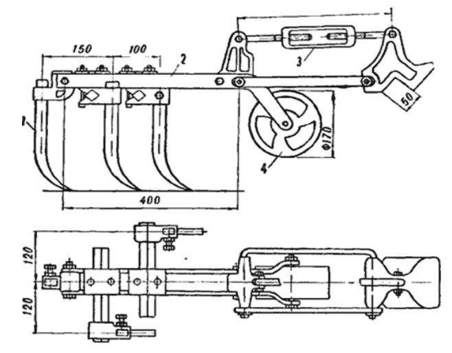 Схема культиватора на трактор
