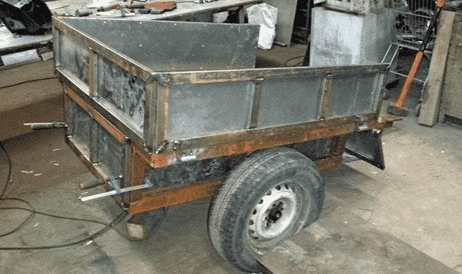 Телегу из металла лучше всего делать из нержавейки или алюминия