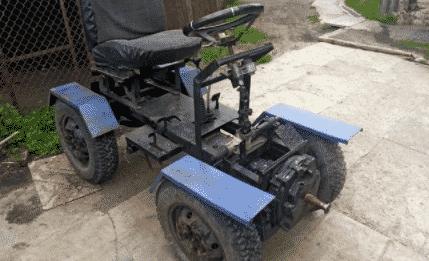 Установка двигателя ВАЗ на минитрактор